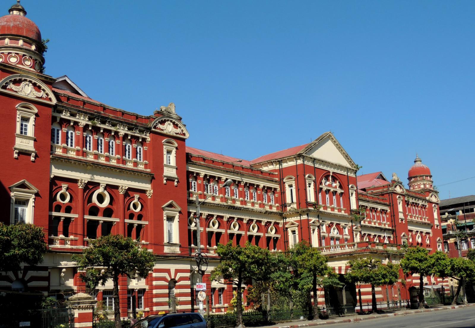 In der Altstadt von Rangun / Burma