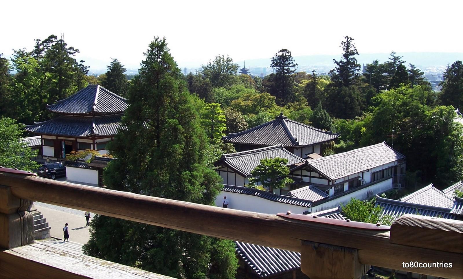 Aussicht von der Nigatsu Hall - Nara - Japan