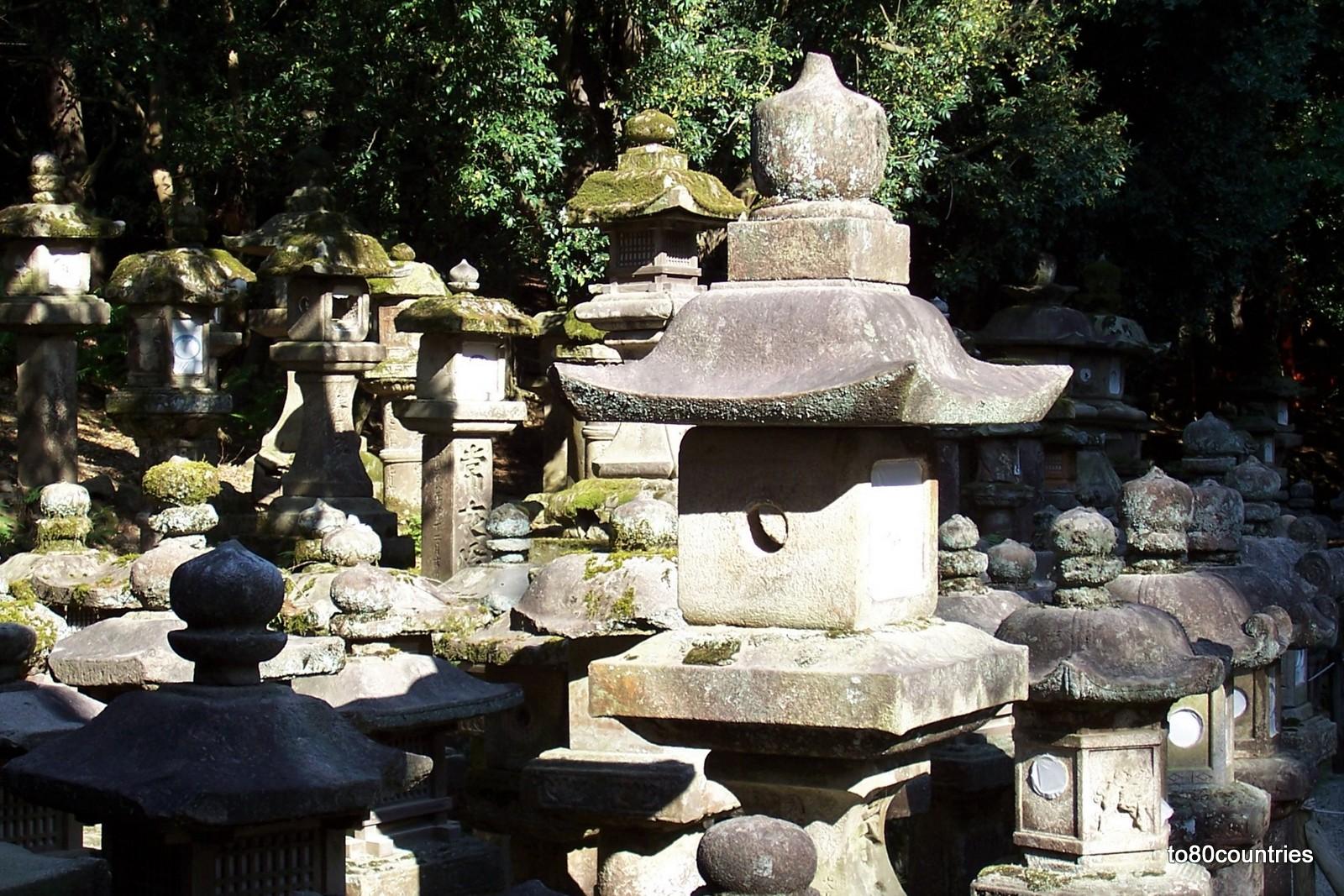Steinlaternen im Nara-Park - Japan