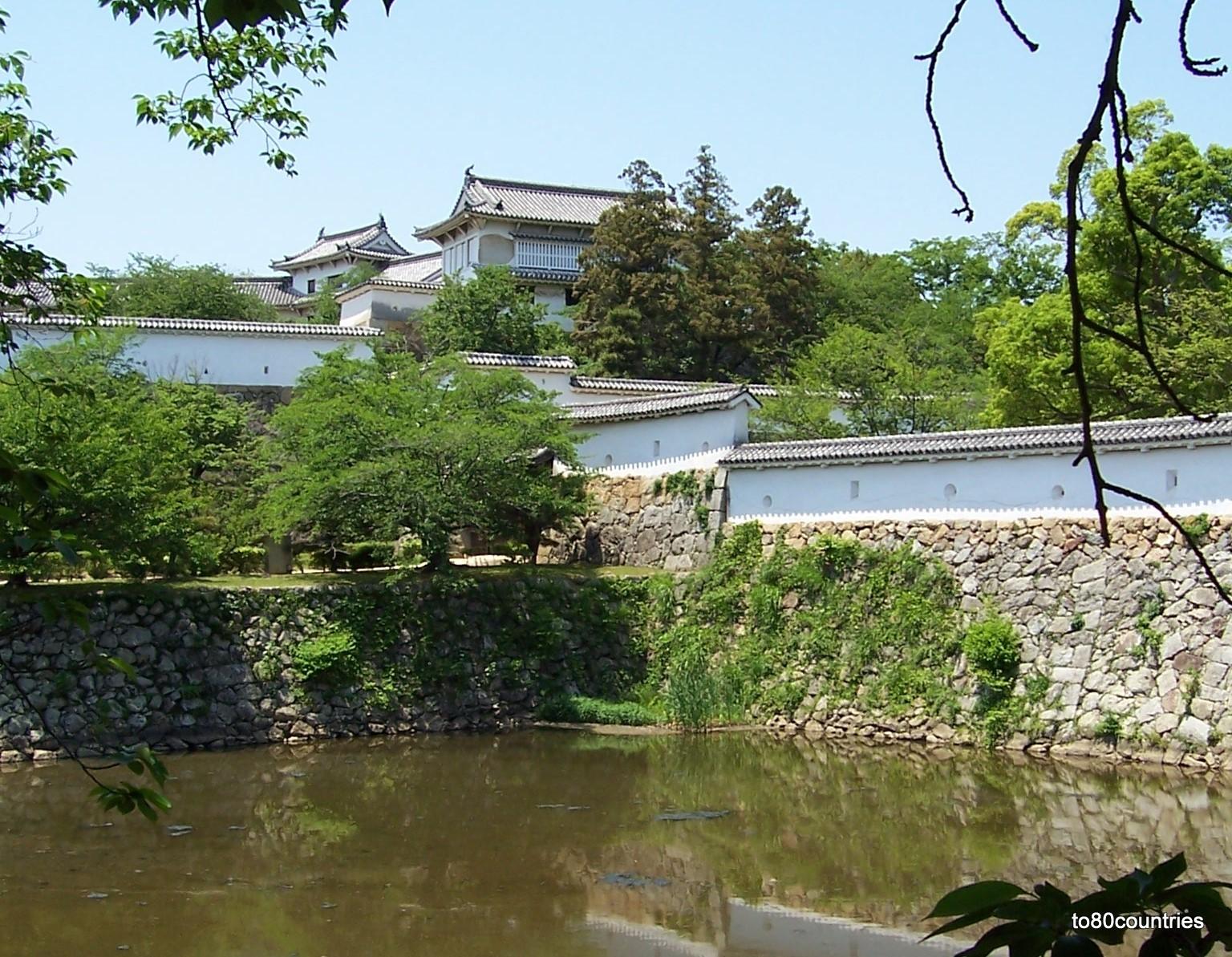 Burg von Himeji auf Honshu - Burggraben