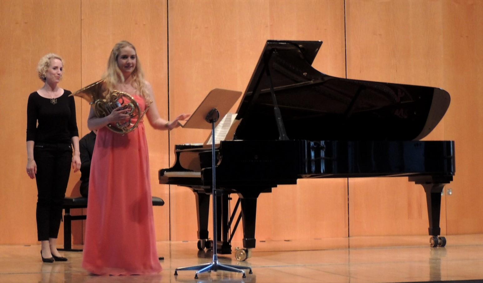 Bachelor-Konzert für Horn mit Klavierbegleitung im Fürstenhaus