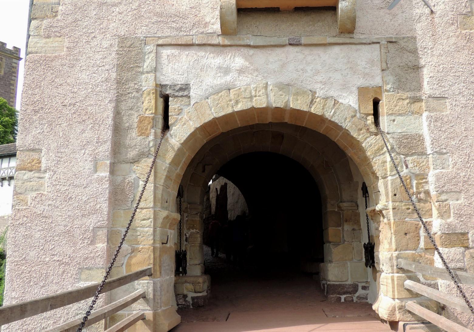 Eingang zur Wartburg in Thüringen