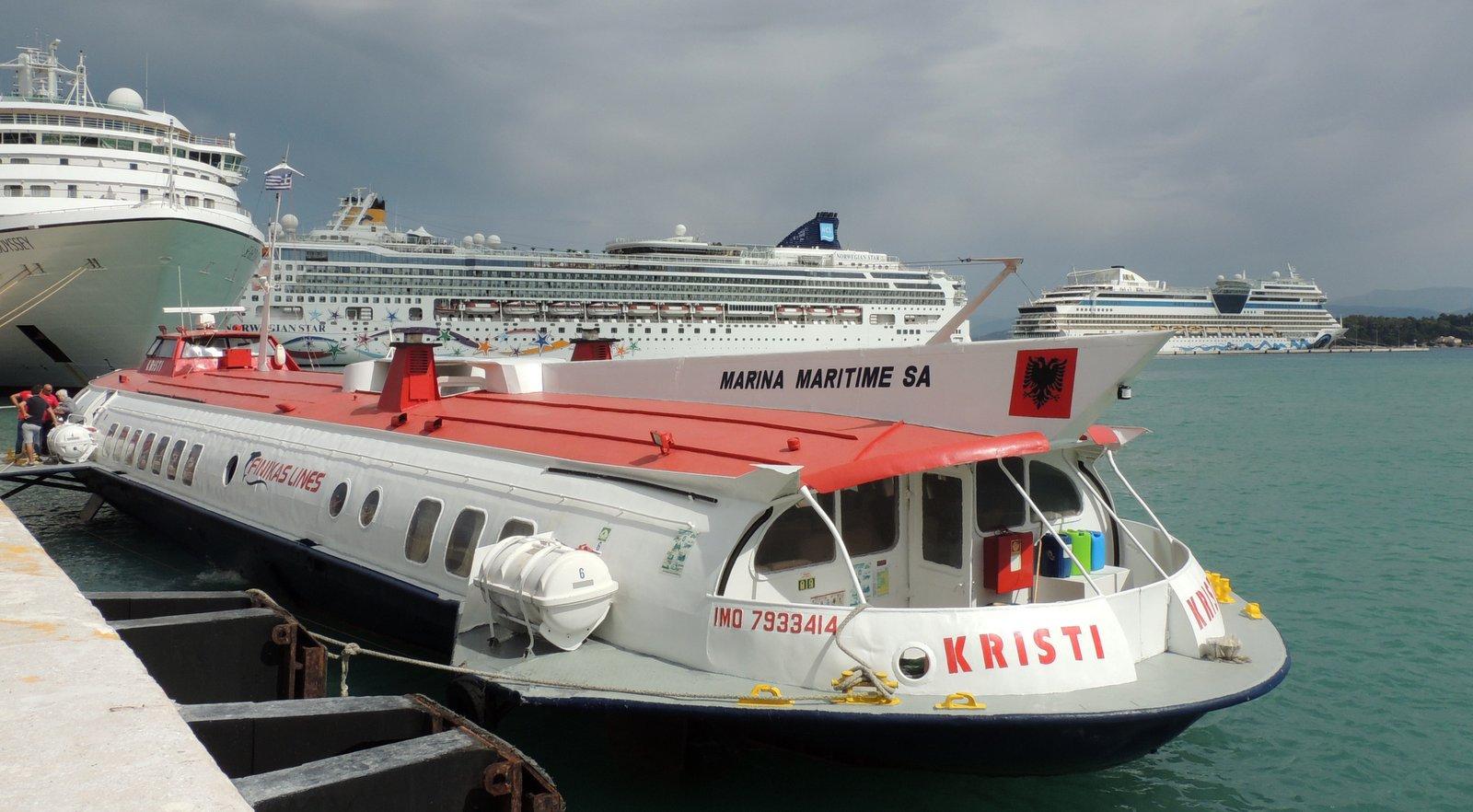 Tragflügelboot Korfu - Albanien