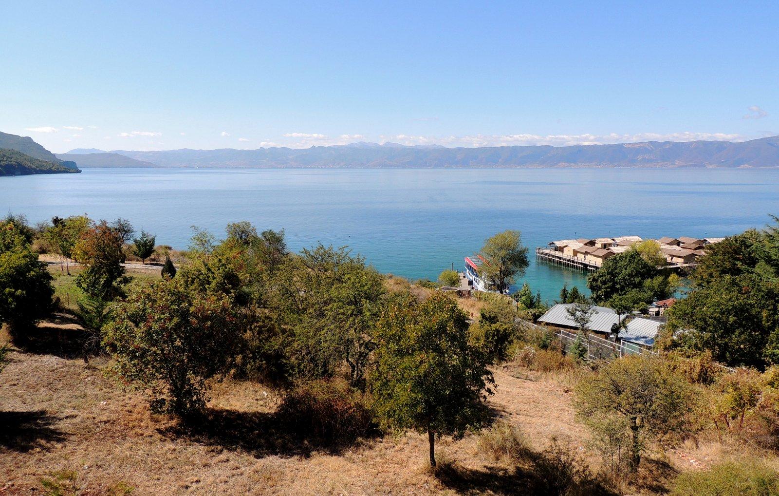 Ohrid-See mit Blick auf Albanien