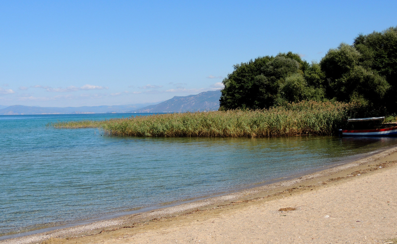 Ohrid-See bei Kloster Naum