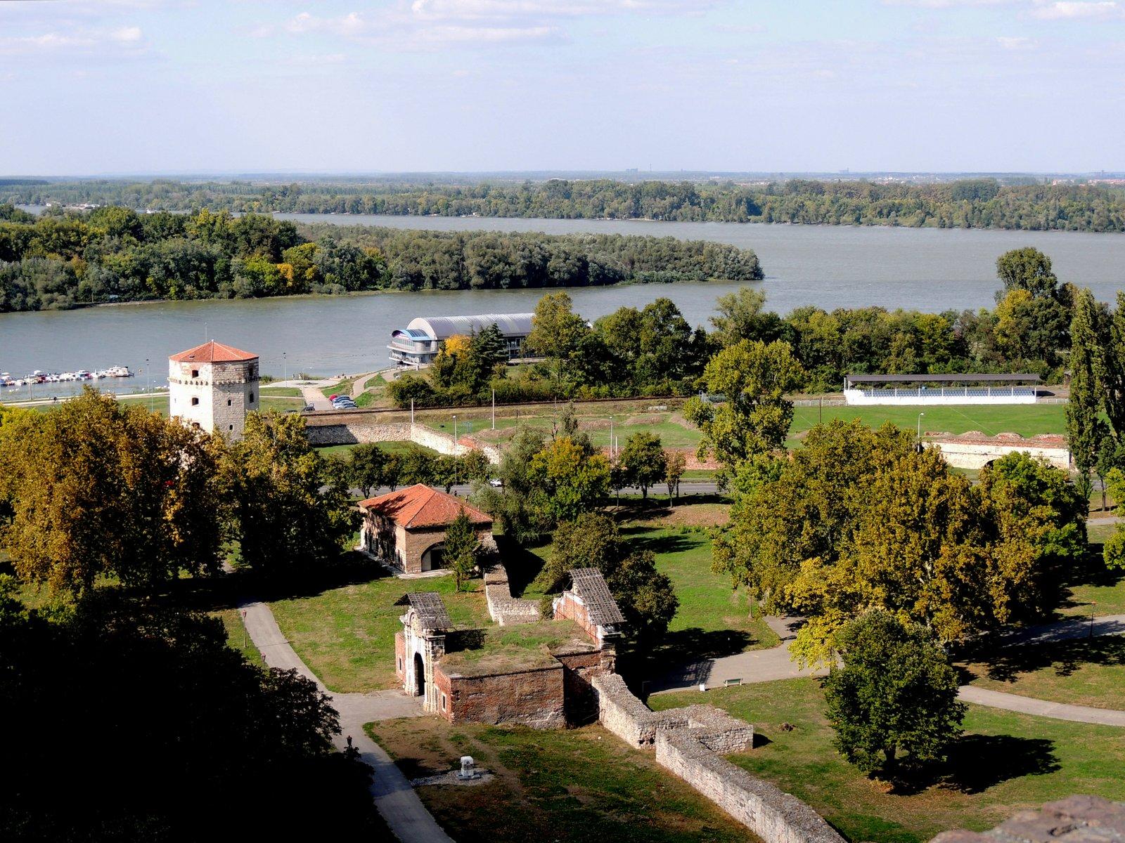 Zusammenfluss von Save und Donau, Belgrad