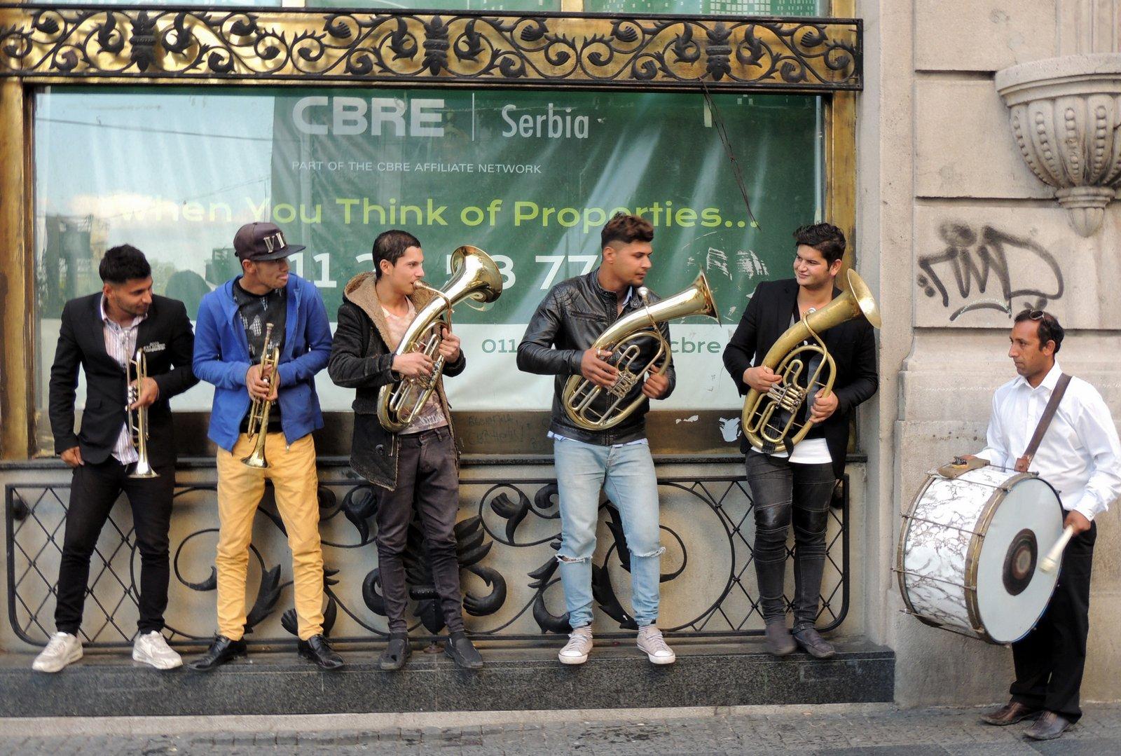 Zigeunerband in der Fußgängerzone Knez Michailova