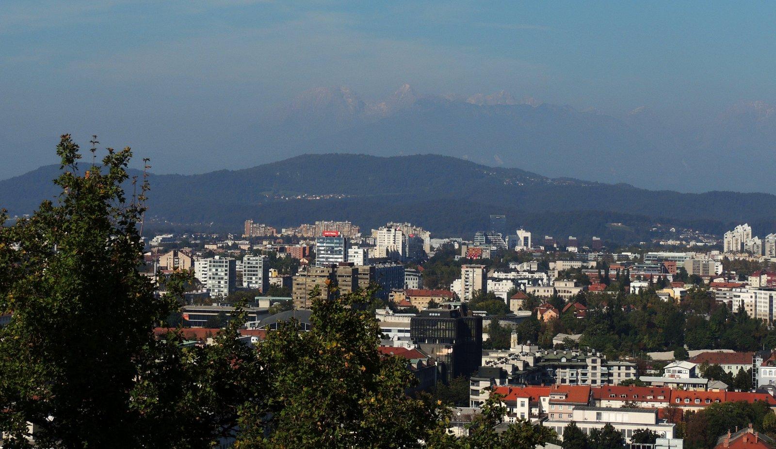 Aussicht vom Burgberg, Laibach
