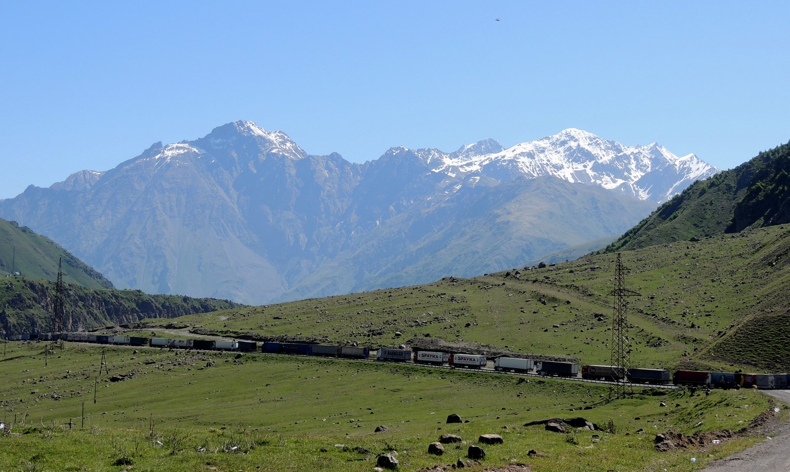 Am Kreuzpass in Georgien