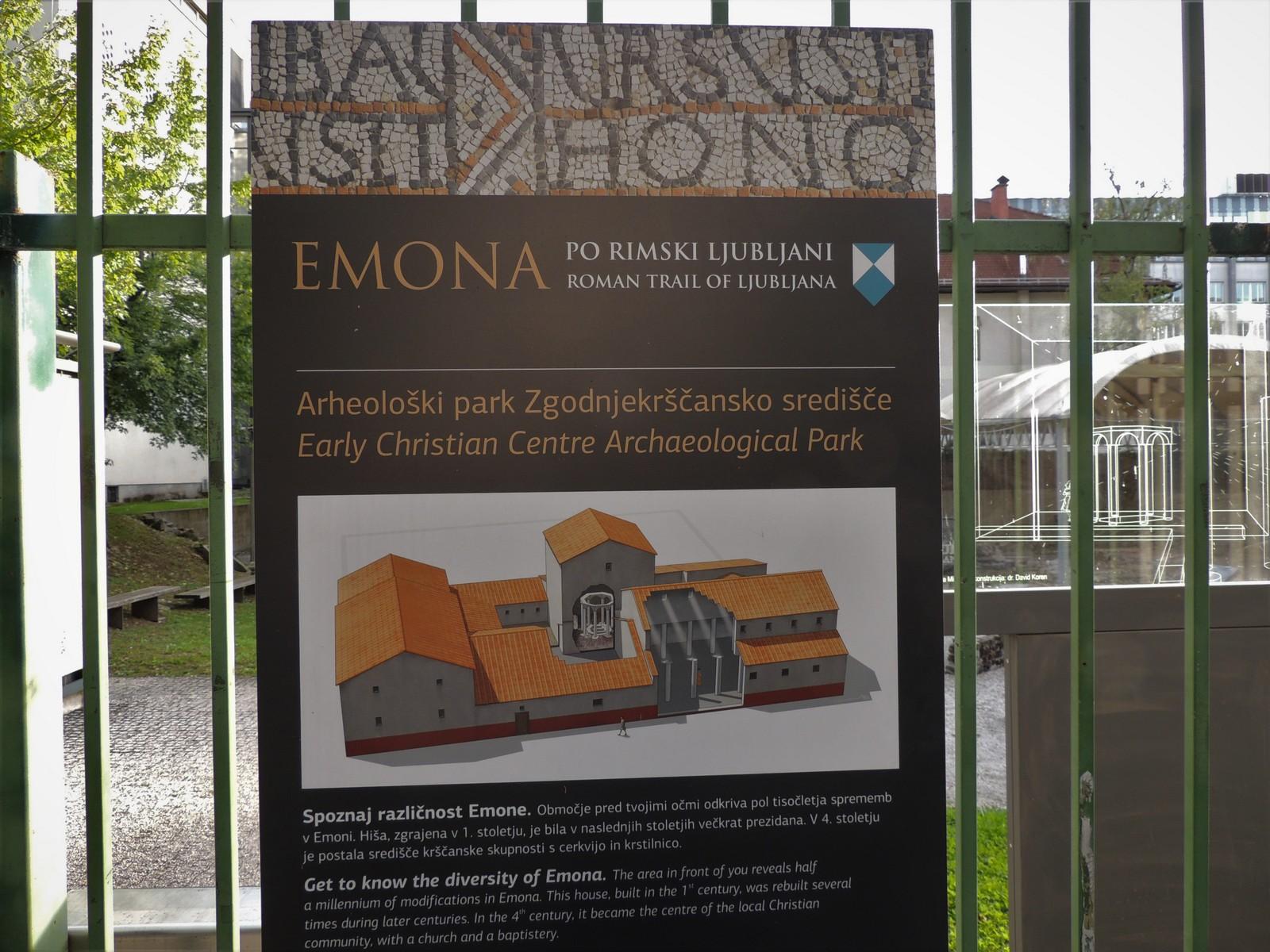 Ljubljana - römische Ausgrabungen von Emona