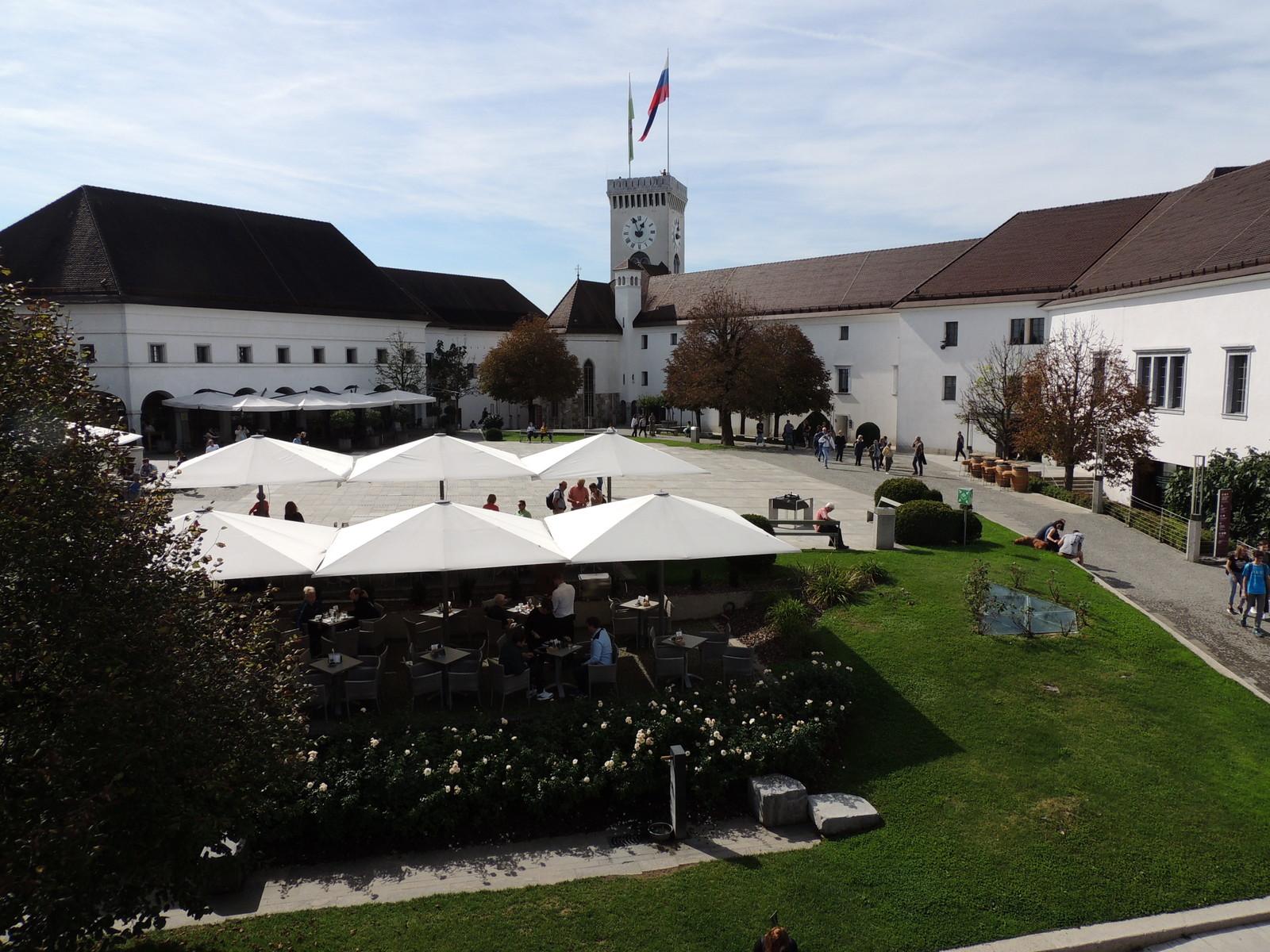 Innenhof der Burg von Ljubljana