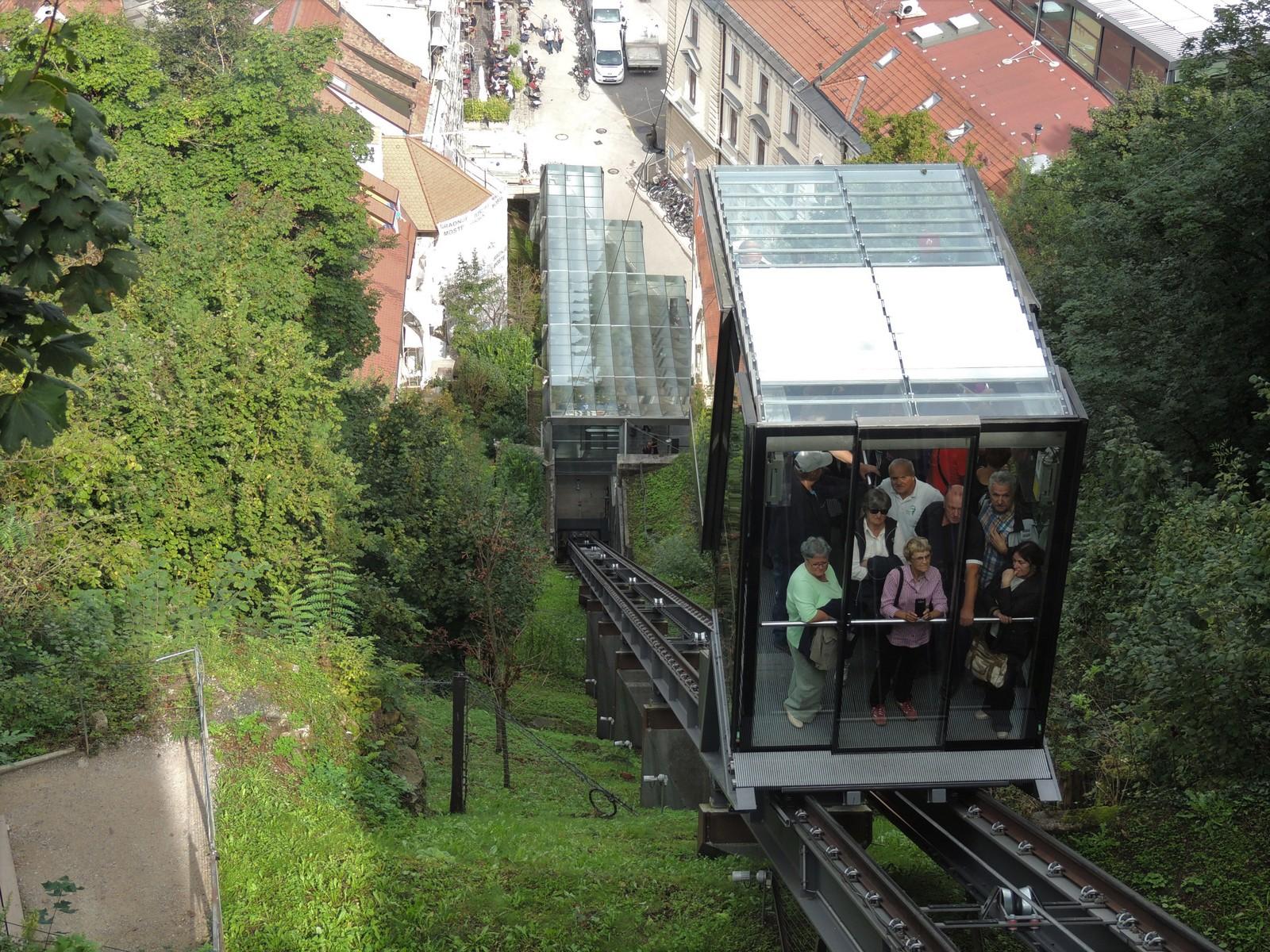 Ljubljana - Standseilbahn zur Burg
