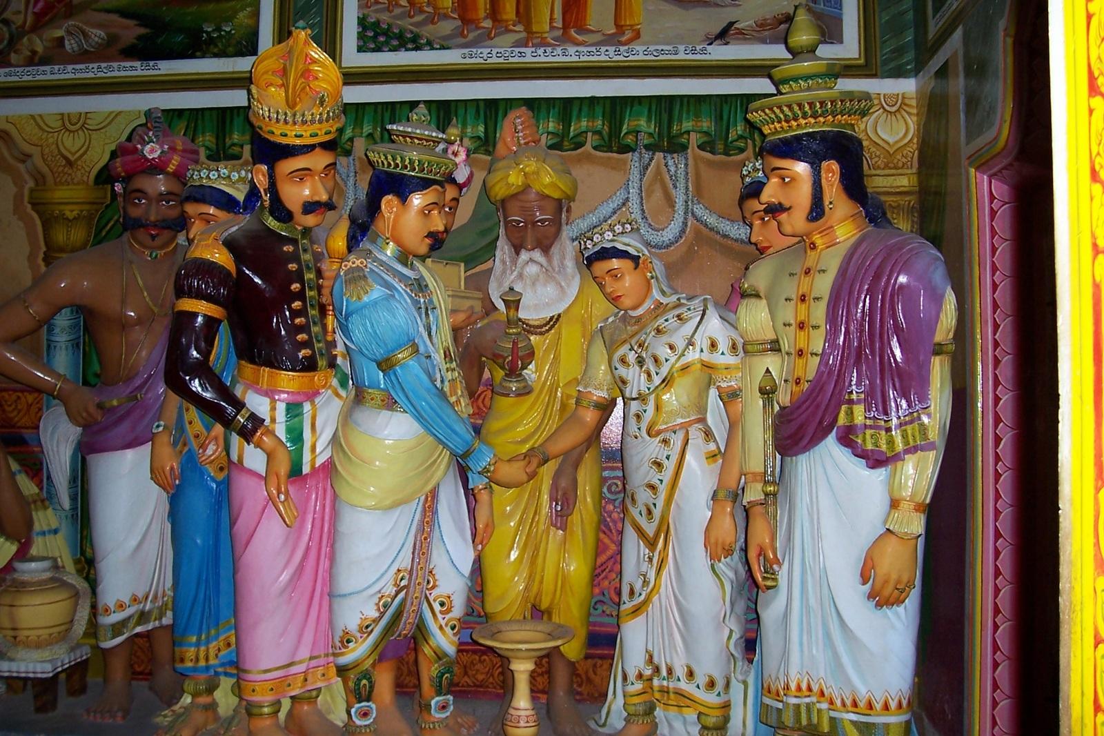 Gangaramaya Vihara am Ratgama Lake bei Dodanduwa