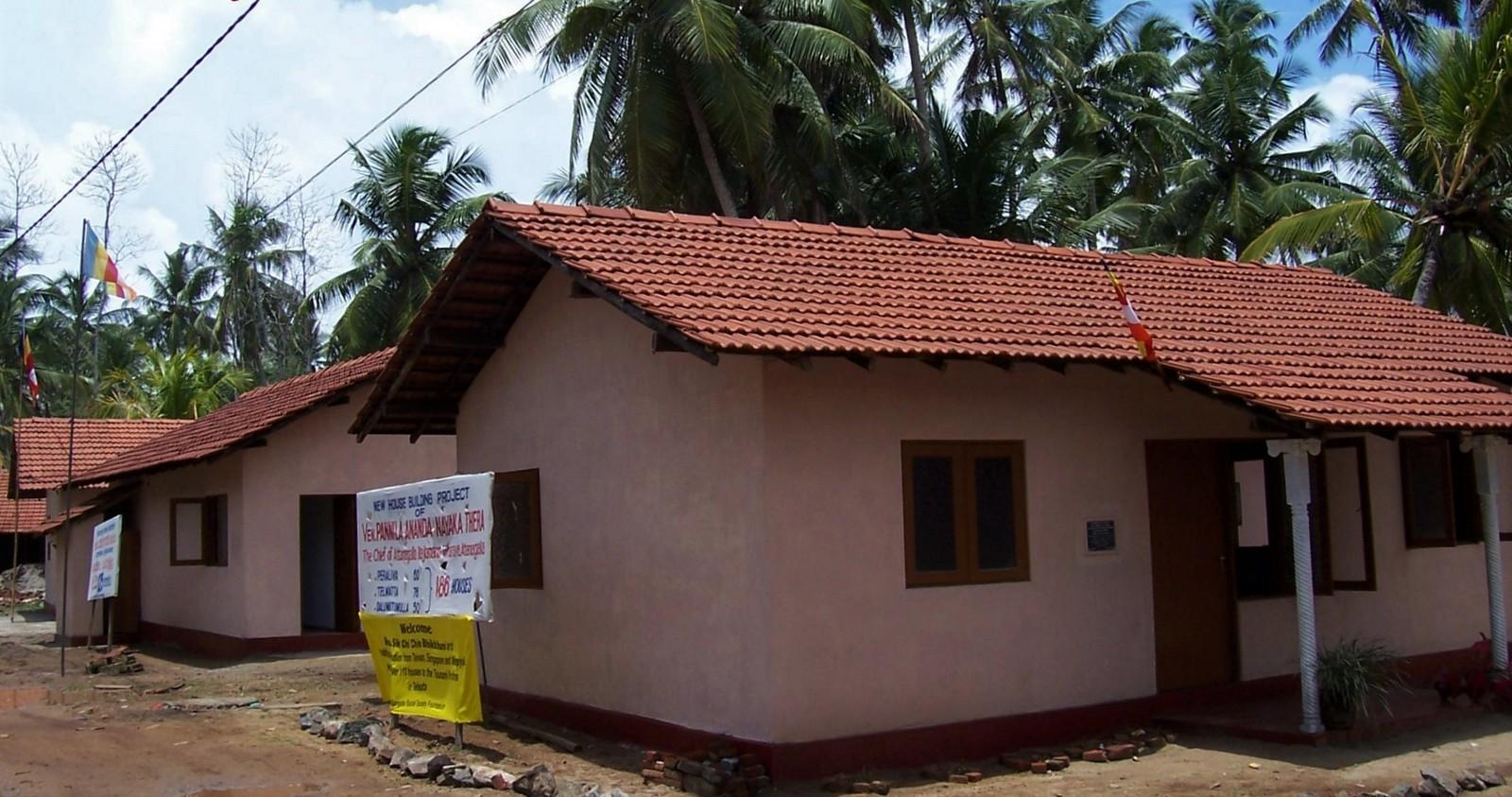 Neue Siedlung nach dem Tsunami bei Galle