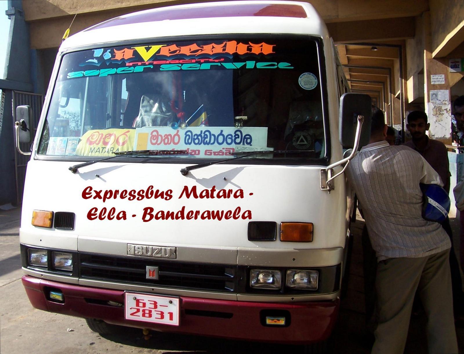 Expressbus Matara - Ella - Banderawela