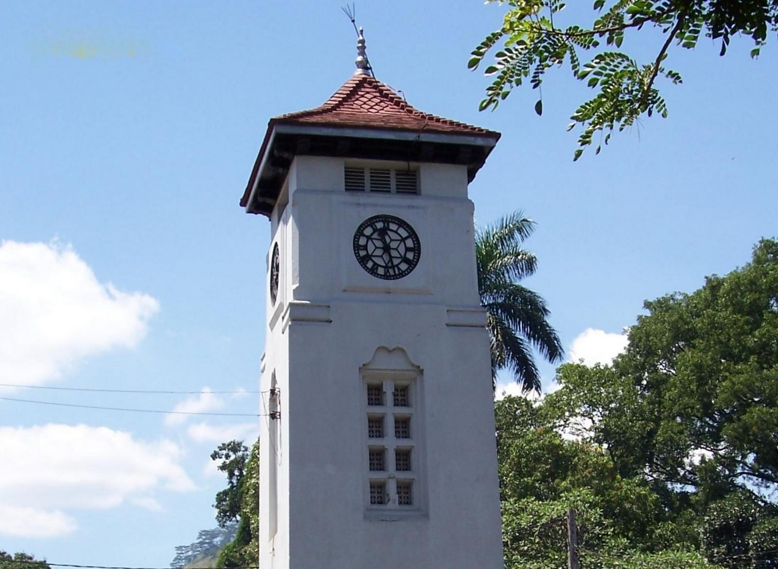 Uhrturm von Badulla - Ceylon