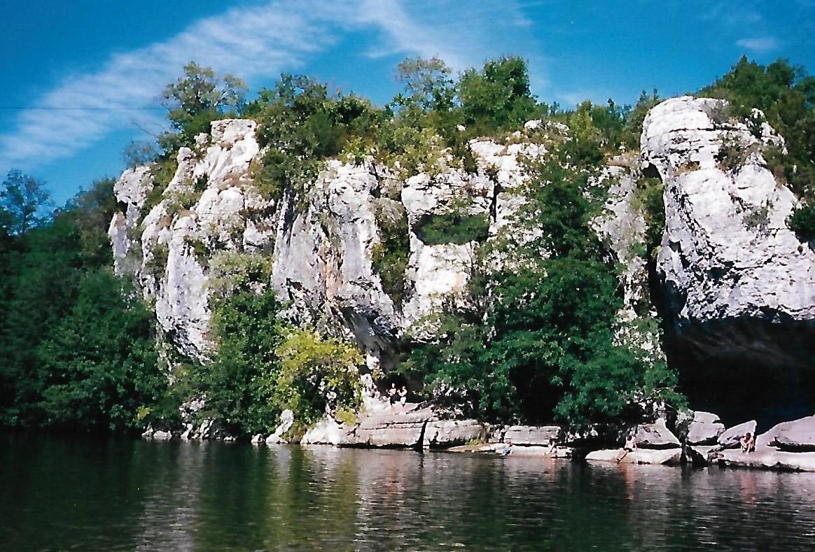 Mazet Plage in den Gorges de Chassezac - Ardèche
