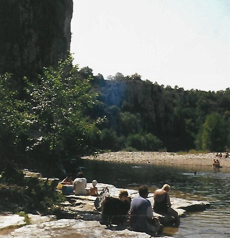 Badeplatz Lebeaume - Ardèche