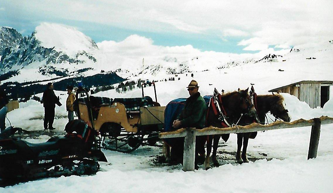 An der Panoramahütte - Seiser Alm