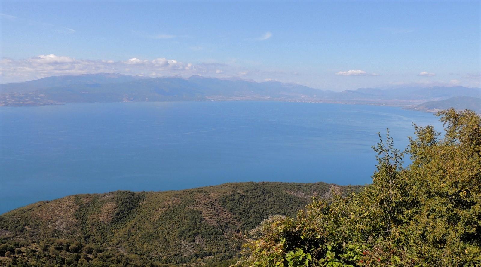 Ohrid-See vom Nationalpark Galičica aus gesehen