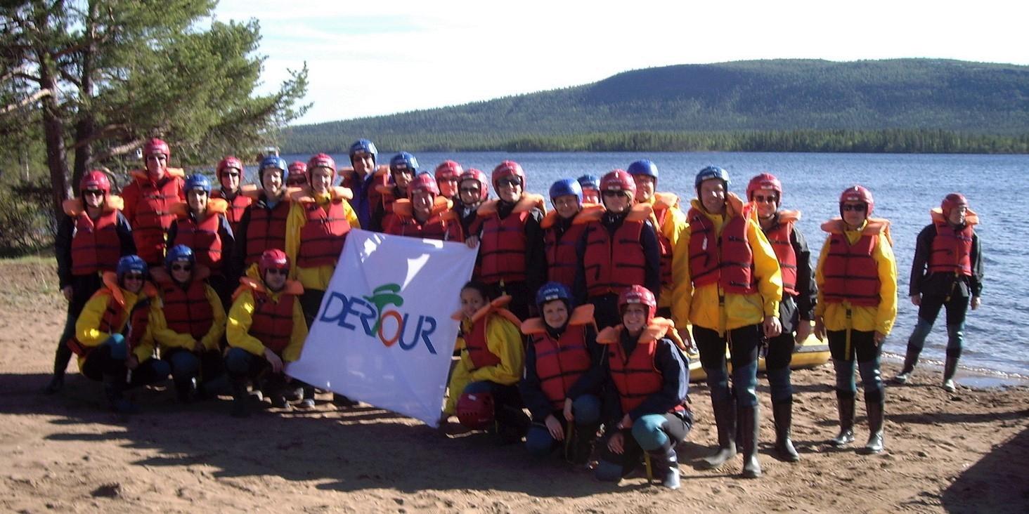 Gruppe der DERTOUR-Informationsreise Lappland
