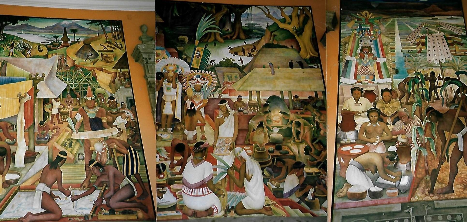 Leben der indianischen Stämme vor der Eroberung von Diego Rivera