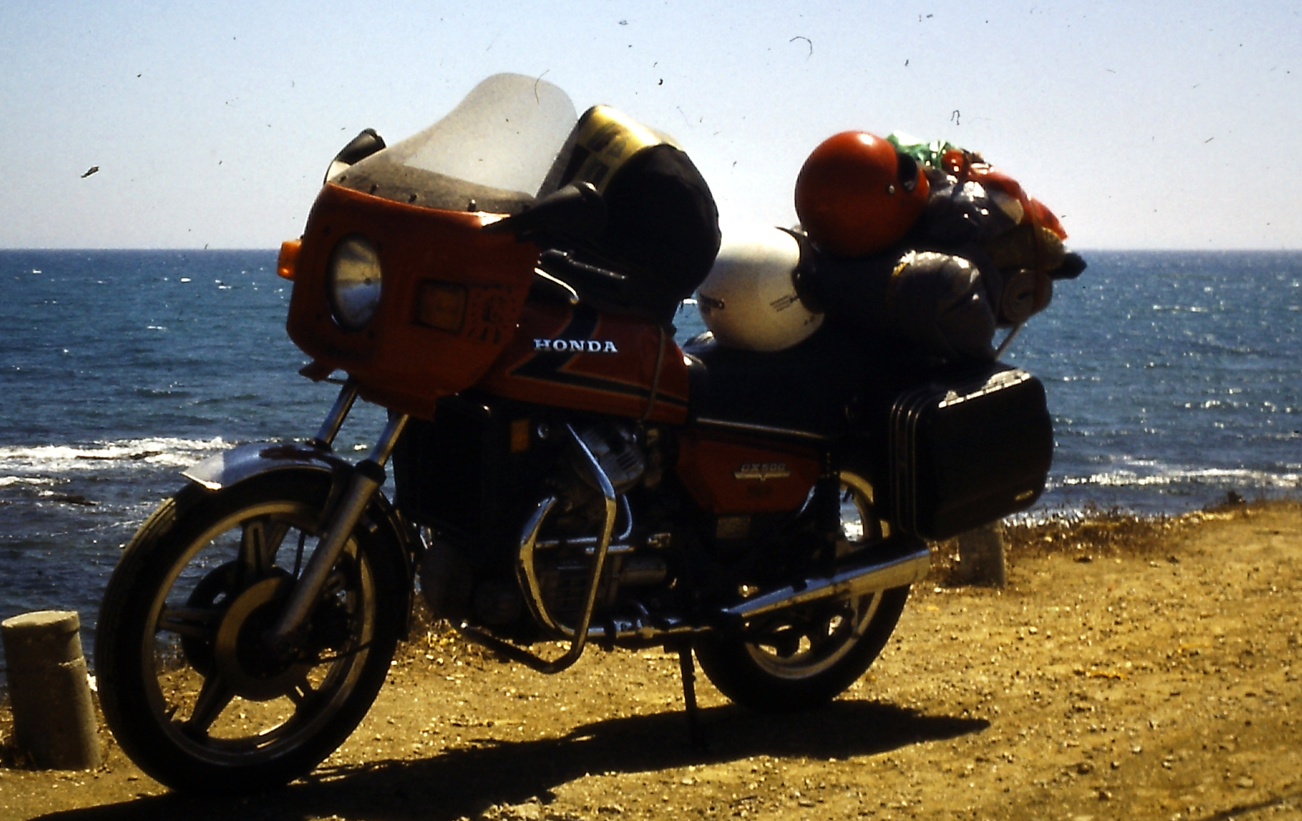 Mit unseren Motorrädern in Marokko - Honda CX 500