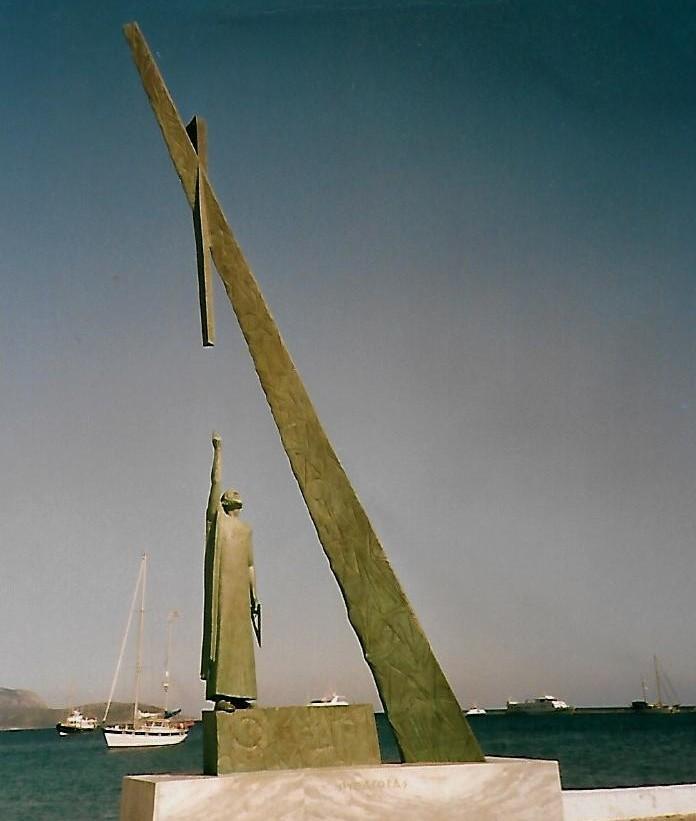 Pythágoras-Denkmal auf Samos